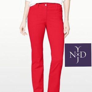 NYDJ Classic Red Straight Leg Jeans